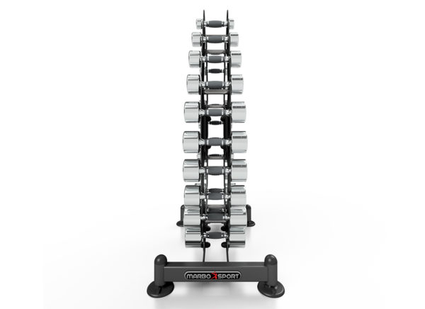 MP-S206 1-10 Kg Chrome Dumbbells With Rack